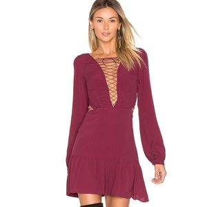 For love and lemons lace up dress